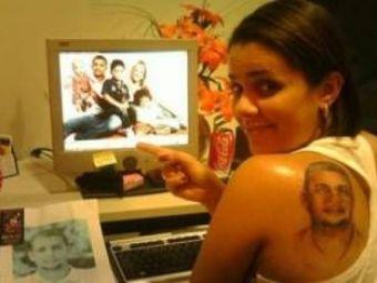 FOTO / Si-a tatuat FATA lui Melo pe spate... din dragoste pentru brazilian!