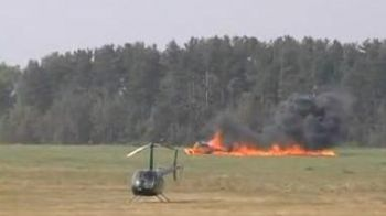 Video socant: elicopterul a cazut si a explodat la un concurs sportiv!