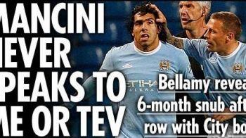 """Bellamy face dezvaluiri INCENDIARE: """"Roberto Mancini nu a mai vorbit cu mine si cu Tevez din februarie!"""""""