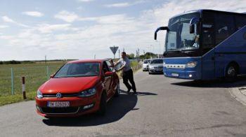 FOTO Autocarul bogatilor de la City, blocat in Timisoara! Vezi imagini de la sosirea lui Manchester!
