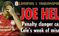 Joe Cole, start MIZERABIL la Liverpool! Eliminat in prima etapa din Anglia, a ratat un PENALTY in Europa League! VIDEO