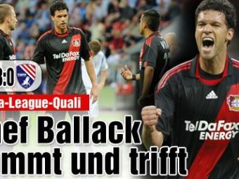 VIDEO! Ballack a dat primul gol la Leverkusen! Vezi FAZA!