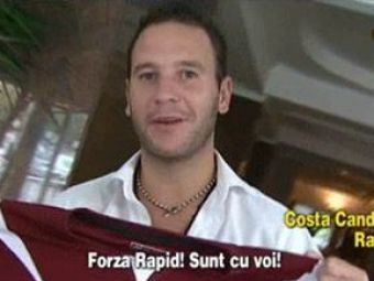 VIDEO! A luat Cupa UEFA cu Mourinho si a ajuns la Rapid! Vezi ce caterinca face Candido in limba ROMANA!