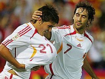 David Villa e la 2 goluri de Raul! Vezi cum poate deveni cel mai bun marcator din istoria Spaniei!