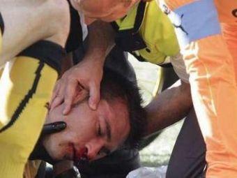 VIDEO SOCANT: A fost la un pas de MOARTE pe teren! Imagini socante: