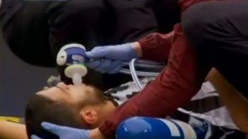 VIDEO: De Jong a comis-o din nou! Ben Arfa, scos pe targa, cu piciorul RUPT si masca de oxigen dupa un fault criminal