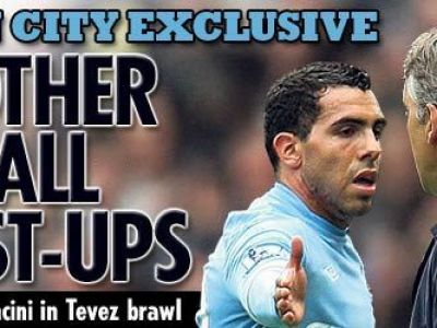 SCANDAL la City! Mancini l-a injurat de mama pe Tevez, cei doi au sarit la bataie in vestiar!