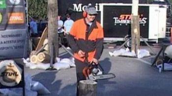 VIDEO / Taietorii de lemne de la Oradea au concurat pe Iron Maiden si AC/DC!