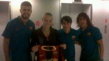 Caroline Wozniacki s-a transferat la Barcelona! S-a pozat cu Pique, Bojan si Puyol: