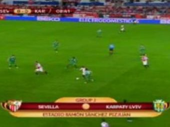 VIDEO: Sevilla a facut scorul serii in Europa League: 4-0 cu Karpaty Lvov! Vezi golul superb marcat de Cigarini