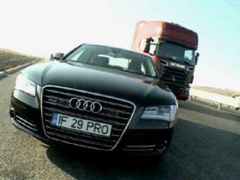 Cursa infernala! 1080 de cai la start!Cel mai puternic Scania din lumevs Audi A8.AZI la ProMotor, de la 12:30