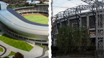 Noul stadion din Cluj costa cu 10 milioane de euro mai mult! FOTO: Cluj Arena incepe sa semene cu macheta!