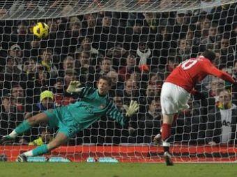 VIDEO / Cum l-a facut portarul lui Arsenal pe Rooney sa rateze un penalty!