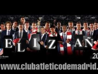 Esti FAN Atletico Madrid? Vezi ce mesaj de Craciun au pentru suporteri Forlan si compania! VIDEO
