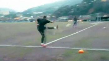 GOL INCREDIBIL! De ce il vor Chelsea si Real pe Neymar? Vezi ce gol din corner a dat la antrenament! VIDEO