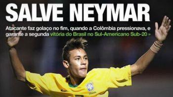 VIDEO / Neymar a lovit din nou pentru Brazilia! Vezi ce gol a dat la U-20!