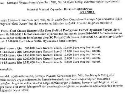 FOTO / Asta e salariul OFICIAL al lui Stancu la Galata! Vezi cat va castiga!
