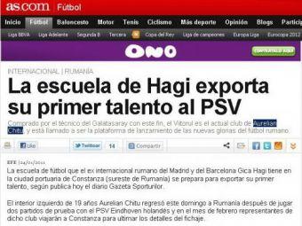 AS: Hagi da lovitura! Academia sa a dat un PUSTI la PSV!