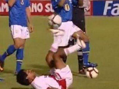 VIDEO / Asta e JOGA BONITO! Vezi ce SHOW a facut Neymar cu un pusti din Peru!