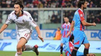 VIDEO / Ce usor e cu Ibra si Robinho in echipa! Milan a castigat cu 2-0 la Catania si are 7 puncte in fata lui Napoli!