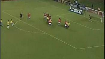 VIDEO / El e viitorul Braziliei! Vezi ce gol FABULOS a dat Neymar din lovitura libera!