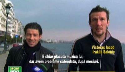 VIDEO Patronul le canta in vestiar dupa meci! Vezi super imagini cu Mara si Iacob la Salonic!