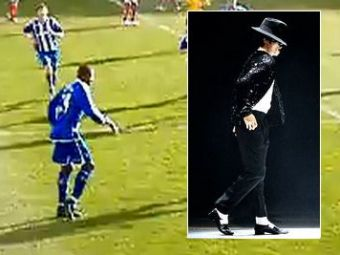 VIDEO Super moonwalk pe iarba! Vezi cum a dansat ca Michael Jackson dupa ce a dat gol