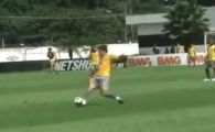 VIDEO: Vandut si de Hagi si de Mircea Lucescu, un super-brazilian s-a facut de ras la antrenamente calcand pe minge!
