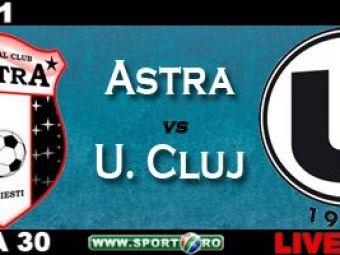 Niculescu da golul etapei in Astra 1 - 2 U Cluj! Pacurar o razbuna pe Steaua la Ploiesti!