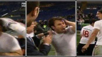 FOTO / Cum se bucura Ibrahimovic cand ia titlul: I-a dat un picior in CAP lui Cassano!