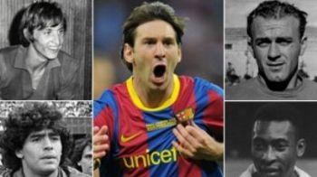E cel mai MIC in teren, dar e URIAS in fotbal! Vezi cifrele care arata ca Messi i-a batut pe toti: Pele, Maradona, Cruyff si Di Stefano!