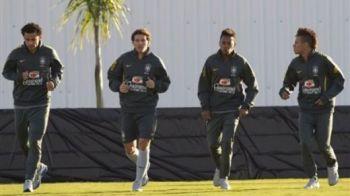 Brazilia nu ne menajeaza! Maicon si Neymar, titulari cu Romania! Vezi primul 11 cu care se vor infrunta Gardos si Rapa!