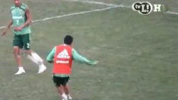 """VIDEO: Deco inca mai stie cu """"varza""""! Ce pasa PERFECTA i-a dat lui Marquinho la antrenament:"""