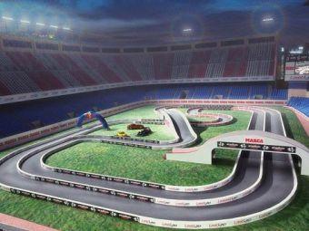 SUPER FOTO / Stadionul lui Atletico se transforma in circuit auto!