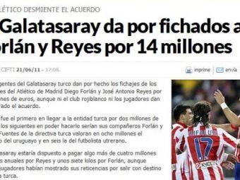 Stancu NU mai are nicio sansa la Galata! Vezi oferta FABULOASA a turcilor pentru Reyes si Forlan!
