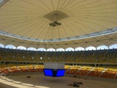 FOTO SUPERB! Asa arata acum National Arena acoperit complet! Vezi super imagini cu TABELA in forma de CUB!