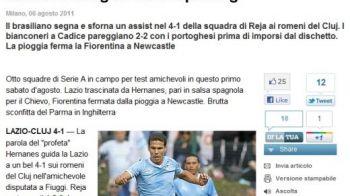 Singura noapte in care U Cluj a stat pe prima pagina din Gazzetta dello Sport! Jucatorul care i-a innebunit pe italieni cu un meci PERFECT:
