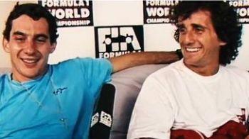 "VIDEO: ""Putem sa incheiem sezonul la egalitate? ... Rahat!"" Senna si Prost intr-un interviu scos de la naftalina!"