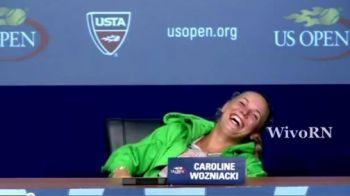 SUPER VIDEO: Wozniacki a LESINAT de ras dupa ce a imitat momentele HORROR traite de Nadal :))