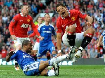 """VIDEO Arbitraj de """"Liga I"""" in Premier League! Ferguson il face PRAF pe arbitru! Intrarea HORROR a lui Cole la Chicharito:"""