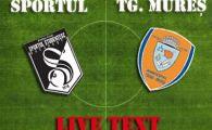 Sportul 1-1 Targu Mures! Curelea, inger si demon! Doua ratari imense in ultimele 10 minute pentru atacantul dorit de Steaua