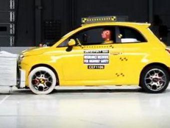 VIDEO: Ce mai ramane dintr-un 500 dupa crash test?
