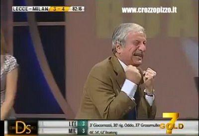 VIDEO MILAN si-a dus fanii in RAI in doar 15 minute! Reactiile incredibile ale celui mai sufletist comentator din Italia!