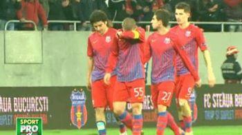 Stelistii INNEBUNITI la meciul cu Haifa! Au retrait COSMARUL cu Napoli! Cum s-au bucurat in cel frumos final posibil