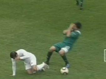 VIDEO Rednic a avut un SOC! Un jucator de la Khazar, lovit BRUTAL de un adversar cu pumnul! 'Puriul' a fost UMILIT cu 5-0 in Azerbaidjan!