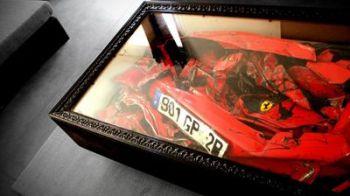 N-o sa-ti vina sa crezi! Ce poti face cu un Ferrari facut ZOB la bautura? O MASUTA de cafea! FOTO SENZATIONAL