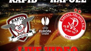 Fanii Rapidului isi iau adio de la Europa dupa un final trist: Rapid 1-3 Hapoel! Burca, doua greseli fatale! Deac a ratat un penalty! Vezi golurile