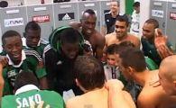 "VIDEO: ""Banel... Banel, il a tire, il marque!"" Nicolita e VEDETA in vestiarul lui Saint Etienne! Vezi cum i-au cantat colegii dupa ultimul gol marcat:"