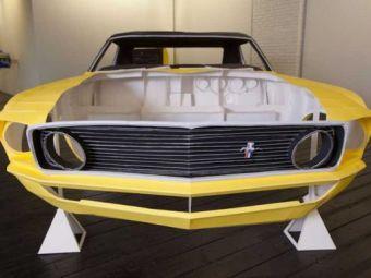 SUPER FOTO! Un Ford Mustang care poate intra in Cartea Recordurilor! Nu il poti conduce si poate fi distrus de umiditate