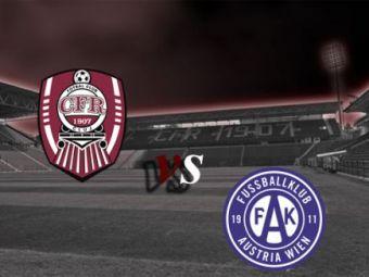 CFR, fara victorie in Antalya: CFR Cluj 0-0 Austria Viena!